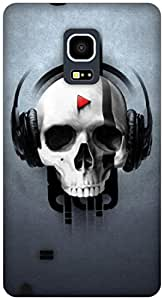 The Racoon Grip music skull hard plastic printed back case / cover for Samsung Galaxy Note Edge