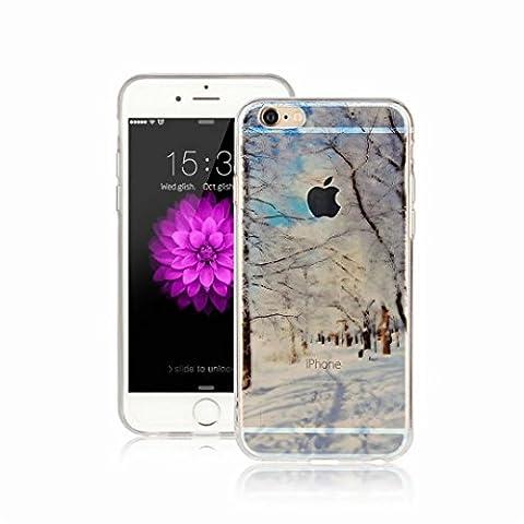 MUTOUREN Coque iPhone 6 Plus/6S Plus, [Liquid Crystal] Ultra Mince Premium TPU Silicone [Crystal Clear] Premium Semi-transparent / Exact Fit / NO Bulkiness Soft Coque Pour iPhone 6 Plus/6S Plus - Motif01
