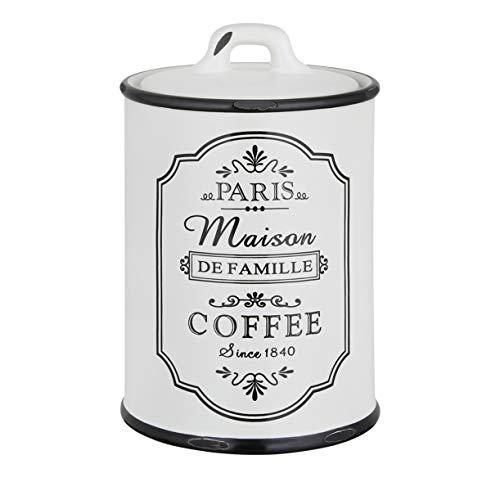 Kaffeedose Vorratsdosen Set shabby chic Keramik Schwarz Weiß Kaffee Luftdicht