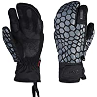 HuanXin-G622 Guantes de esquí con Pantalla táctil para Adultos a Prueba de Viento, Hombres y Mujeres a Prueba de Agua, Motocicleta para Exteriores Guantes Gruesos y Grises