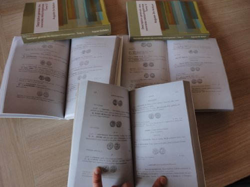Description générale des monnaies mérovingiennes, par ordre alphabétique des ateliers, publiées d'après les notes manuscrites de M. le Vte de Ponton d'Amécourt, par A. de Belfort par Gustave de Ponton d'Amécourt
