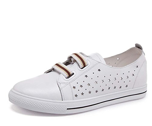 Scarpe casual in pelle scarpe testa rotonda singola scarpe piccole scarpe bianche scarpe studentesche scarpe eleganti 815-5 hollow white