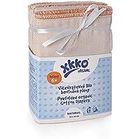 xkko prefolds–100% de algodón bio–(6unidades)–Gasas, muselina, de plástico, pañales pañales, muselina, faltwindeln, vorfalz, prefold, California pañales