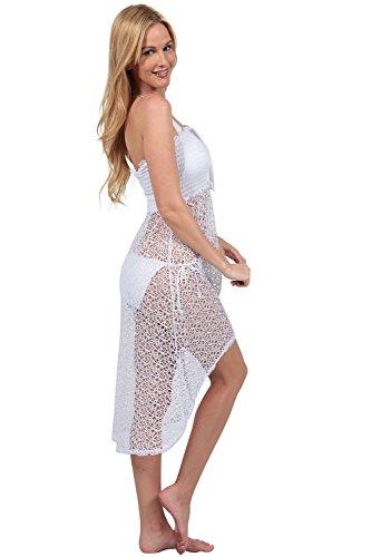 ingear Mesh Smocked Hi-Low vestito White