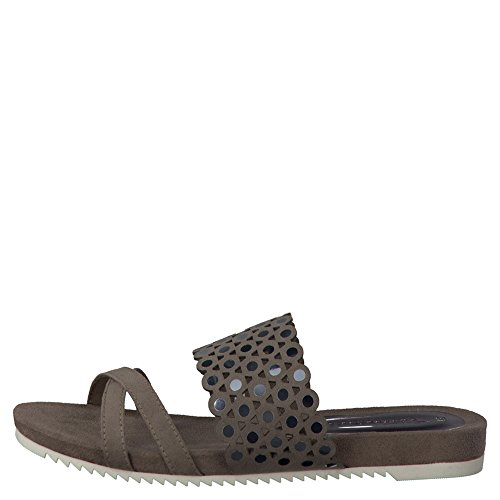Tamaris Damen Pantoletten Grau, Schuhgröße:EUR 39