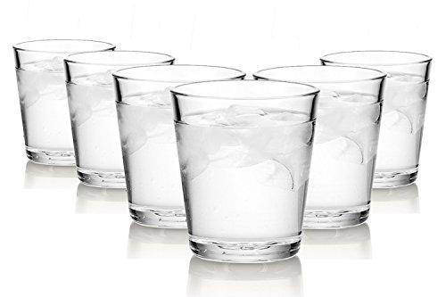 ARC Basic Wassergläser/Spülmaschinenfest/6 -teiliges Set/250 ml/Alle Glaeser sind aus einem Stück geblasen und haben den beruhtem polierten Mundrand.