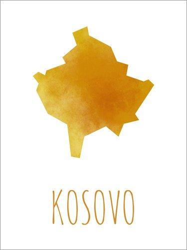 Posterlounge Leinwandbild 120 x 160 cm: Kosovo von Stephanie Wittenburg - fertiges Wandbild, Bild auf Keilrahmen, Fertigbild auf echter Leinwand, Leinwanddruck