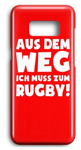 shirt-o-magic Handyhülle Rugbyspieler: Muss zum Rugby! - Case -Samsung S8-Rubinrot Samsung Rugby