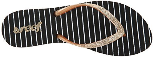 Reef  STARGAZER PRINTS, Tongs pour femme Multicolore - Mehrfarbig (BLACK/GOLD/STRI / KGS)