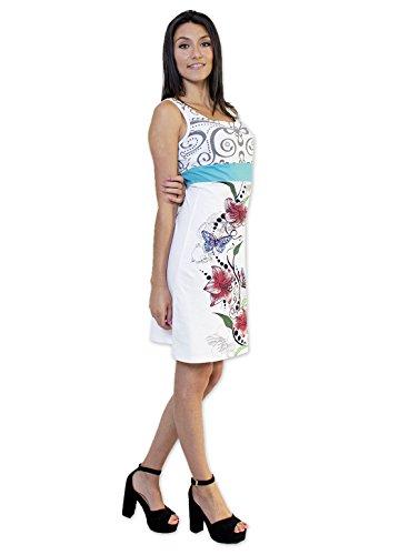 Coton Du Monde - Robe ANELA Blanc Multicolore