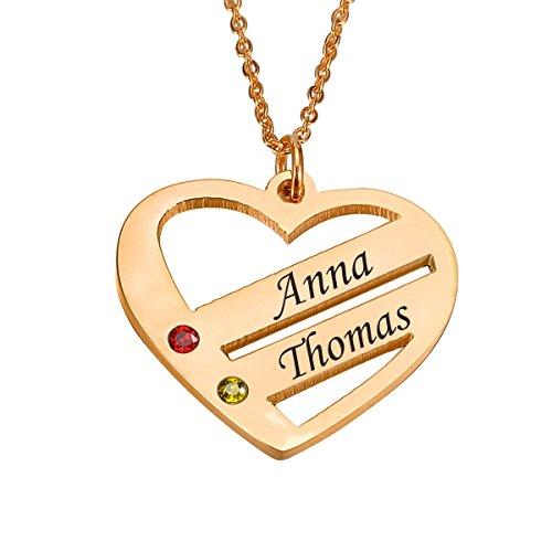 Personalized Custom Paar/Liebhaber Name Herz Anhänger Halskette, Customized Handmade Geschenk für Männer/Frauen / Mädchen/Jungen ()