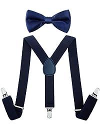 4210055d2451 Children Kids Braces Bow tie set- Adjustable elastic Suspenders with Bowtie  set for Boys &
