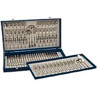 Monix Milán - Set 113 piezas cubiertos de acero inox 18/10 con cuchillo chuletero