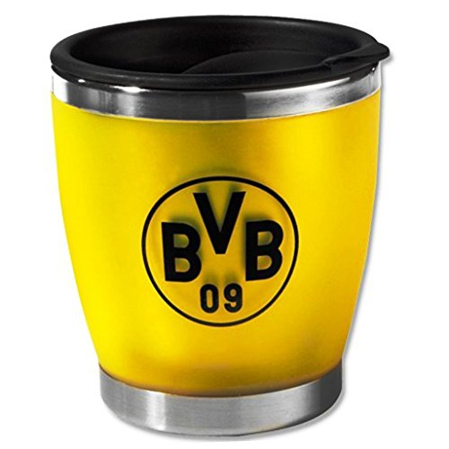 Borussia Dortmund Thermobecher / Kaffee Becher / Tasse - Coffee to go gelb BVB 09 - plus gratis...