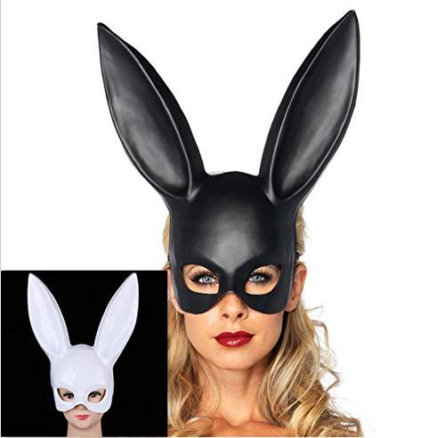 bdrsjdsb Halloween Maskerade Party Kostüm Requisiten Frauen Sexy Kaninchen Ohren Bondage Maske Geschenk Weiß