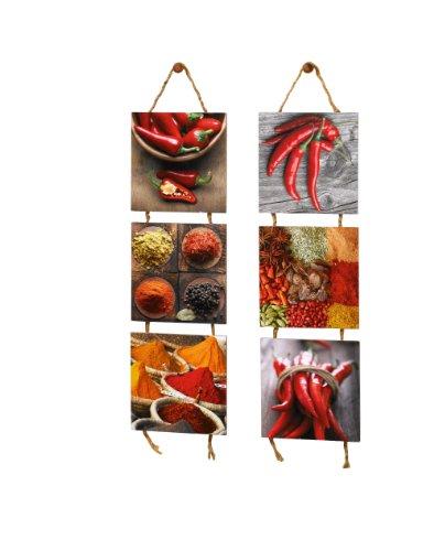 Quadro su tela cucina Frutta 150 x 50 cm 3 tele modello nr XXL ...