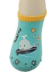 Tongshi Preciosa muchacha del bebé de la historieta de impresión elásticos Calcetines anti de la resbalón del niño Calcetines especí
