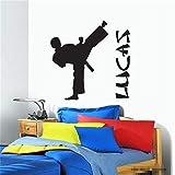 stickers muraux jungle b Parede personnalisé nom citations garçon Taekwondo Karaté Taekwondo pour les enfants chambre d'enfant