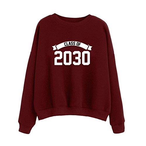 Pullover Damen Btruely Frau Lose Hoodie Sweatshirt Langarm Jumper Sweater Beiläufig Tops (L, (Mädchen Stiefel Gold Super In Rot Und)