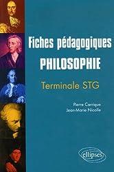 Philosophie Tle STG : Fiches pédagogiques
