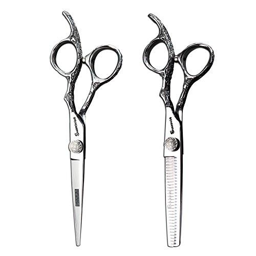 Motif rose Barber Shop Cheveux Ciseaux Cheveux Professionnel Ciseaux 5,5 pouces et 6 pouces