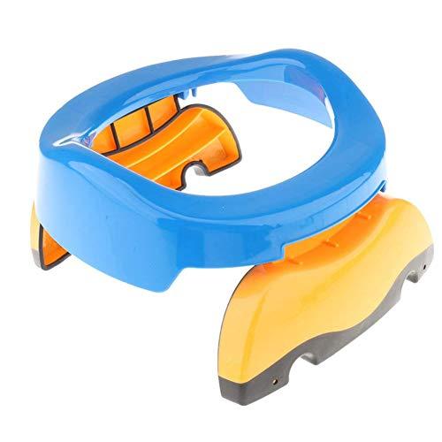 CDKJ pieghevole non di slittamento del locale di riposo Viaggi bagno portatile sedia riutilizzabile vasino include Liners per neonati, bambini piccoli e bambini blu