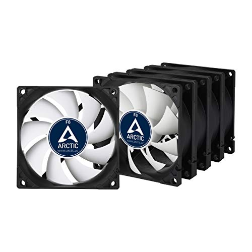 ARCTIC F8 Standard Value Pack - 80mm, Lot, 5 Ventilateurs Haute Performance, Ventilateur Boitier, Refroidisseurs Silencieux pour UC, Roulement à Fluide Dynamique, Support à Broches Standard, 2000 RPM