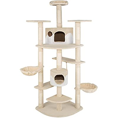 TecTake Cat scratcher activity center cat tree 204cm -different colours-