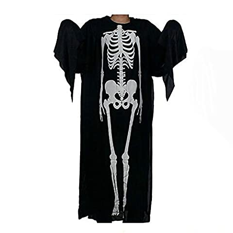 Bekleidung Loveso Schädel Skeleton Pattern Umhang Unfug Halloween Kostüme Langarm Kleid (Vampir Kostüm Diy)