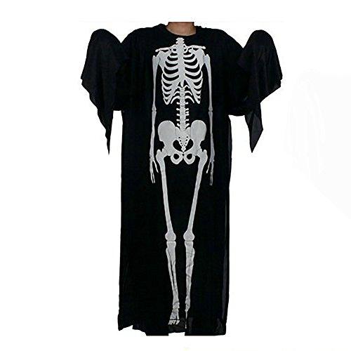 Bekleidung Loveso Schädel Skeleton Pattern Umhang Unfug Halloween Kostüme Langarm (Sexy Diy Kostüme Halloween)