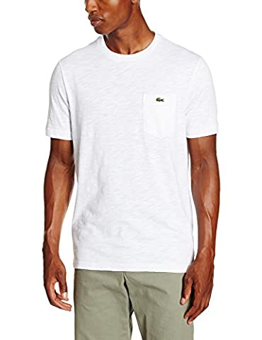 Lacoste L!VE - T-shirt Homme - Blanc - XXX -Small (Taille Fabricant : 0)