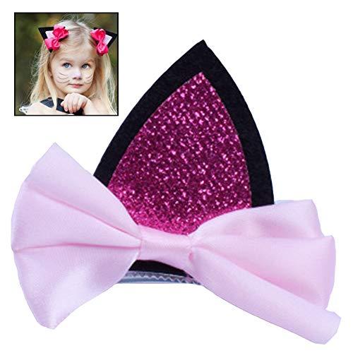 d Spangen Mädchen Kopfbedeckung Katze-Ohr-Hairpin-Haar-Zusätze Mädchen Clip ()