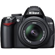 Nikon D3000 fotocamera Reflex con obiettivo 18-55 VR, colore nero
