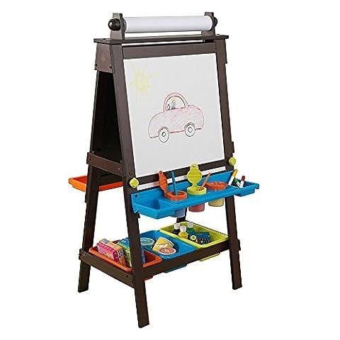 KidKraft double face Motif de rangement en bois Art Chevalet dans Espresso à 3ans pour enfants