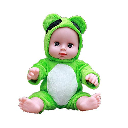 Local Makes A Comeback -Muñeca anti-real, Muñeca de gelatina completa, Servicio de guardería de educación temprana para niños y niños Regalo de juguete, mono verde