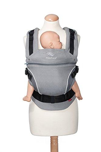 Manduca 222-100-14-100 Baby-und Kindertrage SpecialEdition PearlGrey, Bauch-, Rücken- und Hüfttrage - 100 % Bio-Baumwolle -