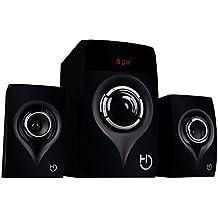 Hiditec - Altavoces H450, Sistema de sonido 2.1 (Bluetooth 4.1, USB, SD, 40W RMS, Line-In)