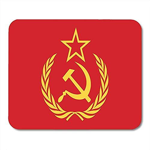 Alfombrillas ratón Símbolo CCCP ruso rojo Martillo