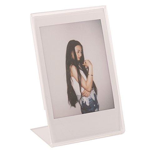 Preisvergleich Produktbild Woodmin Foto Rahmen Bilderrahmen für Fujifilm Instax Mini Polaroid Films Porträtrahmen Polycarbonat Bilderrahmen Bastelrahmen Standrahmen Tischrahmen Stilrahmen Bilder Rahmen