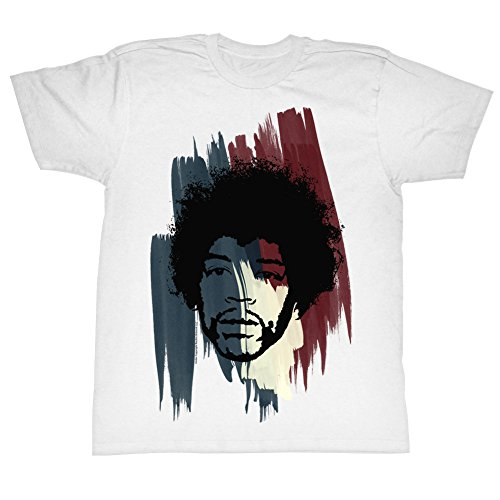 Jimi Hendrix - Herren Stripes T-Shirt White