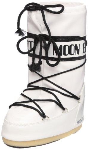 Moon Boot Tecnica VINIL, Damen Snowboots Stiefel, Weiß (001), 31/34 EU