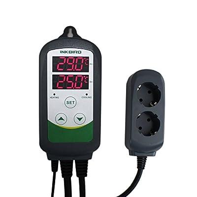 Inkbird ITC-308 Plug-n-Play Numérique Contrôleur de Température, Refroidissement & Chauffage Thermostat pour Terrarium Lamp Chauffant Aquarium Pompe Biere Fermentation