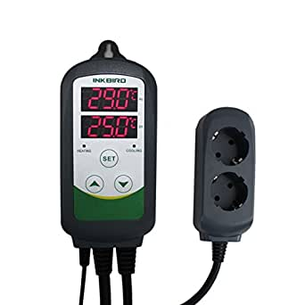 Inkbird ITC-308 220V Digitale Termoregolatore Regolatore di Temperatura Controllo Termostato Controllore Presa con il Termocoppia Sensore