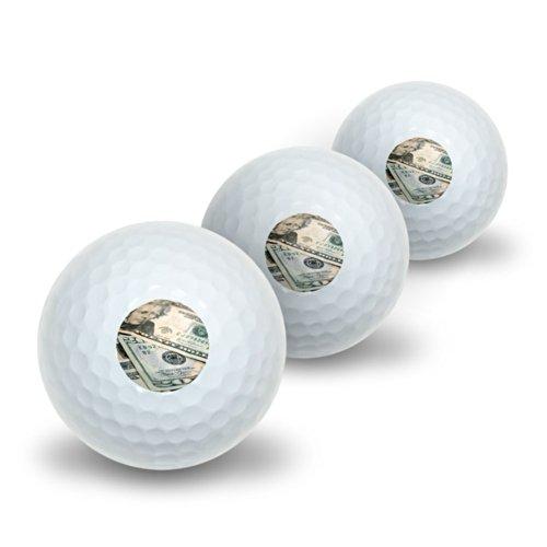 Zwanzig Dollar Rechnungen Geld Währung Neuheit Golf Balls 3Pack