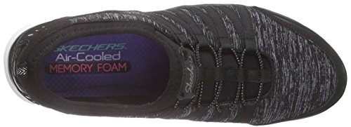 Skechers Gratis shake-it-off, Baskets Basses femme Noir - Noir/blanc