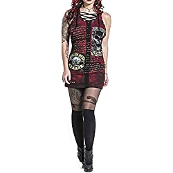 Vestido corto elástico rockero