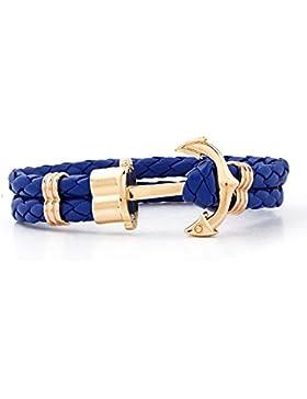 Lederarmband PH Anker gold - blau