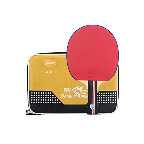 YXHUI Tischtennisschläger, 8-Sterne-Tischtennisschlägerset Horizontal Shot/Pen-Hold Doppelseitig Antihaft-Trainingswettbewerb Dedicated (Tischtennisschläger * 1) Good Mood, Good Life