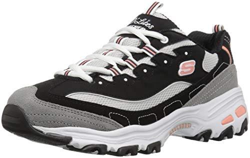 1e4fded80cb2c Skechers Women s D Lites-New Journey Sneaker Black White Grey ...