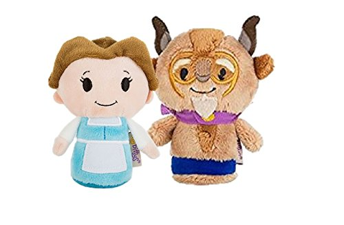 Beauty and the Beast Itty Bittys Set of Belle and The Beast 11cm Soft Toys